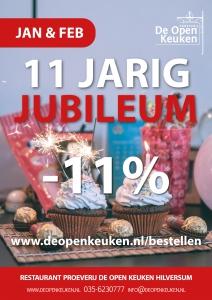 Jubileum restaurant De Open Keuken Hilversum