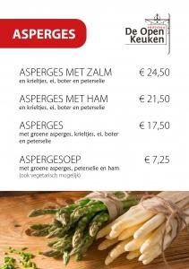 Asperges restaurant De Open Keuken Hilversum