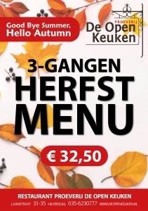 herfstmenu restaurant de open keuken hilversum